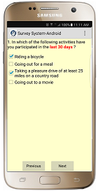 The Survey System - Android Survey Software Multiple-choice