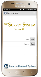 The Survey System - Android Survey Software Menu